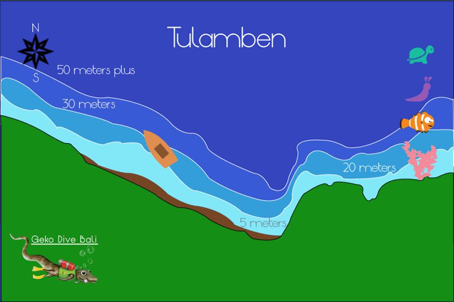 Tulamben bali dive sites drop off coral garden alamanda - Padi dive sites ...