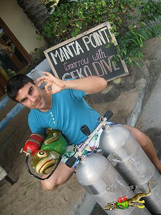 geko dive bali french technical scuba diver after padi tecrec tek course in indonesia 320px