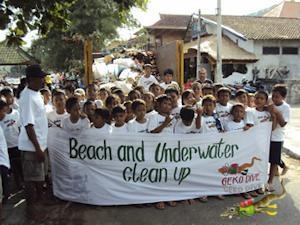 Environmental Beach and Underwater Reef Clean-ups and Ecological Actions in Bali Indonesia