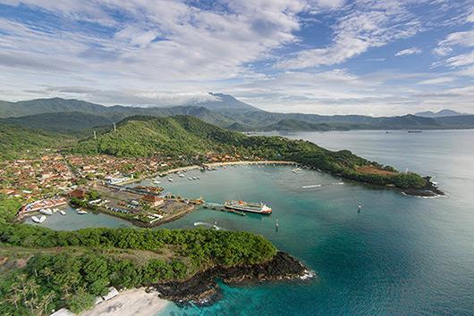 Showcase Aerial Drone Photography View Padang Bai Harbour Bali 530x354